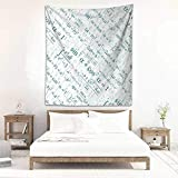 Keith Snell Wall Tapestry for Bedroom Mathematics Classroom Decor Various Complex Math Formulas...