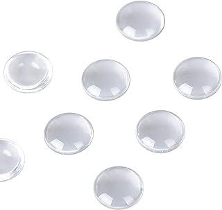 Lot de Cabochons en Verre Transparent Cristal Dôme à Dos Plat Demi-Rond pour Scrapbooking DIY Bijou Artisanat