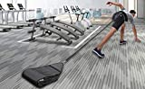 UBOWAY Adjustable Sled Trainer: for Sprinter Speed Training Indoor with 4 Weight Sandbags 10-40 lbs