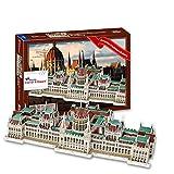Parlamento - Budapest, Hungría. Puzzle 3D Papel. Arquitectura del Mundo. Exclusivo. Educacional y Decorativo