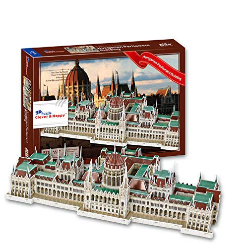 Parlament - Budapest, Ungarn. 3D-Papier-Puzzle. Architektur der Welt. Exklusiv. Pädagogisch und dekorativ