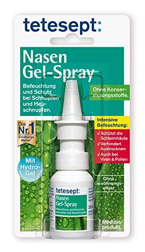 tetesept Nasen Gel-Spray – Nasenspray mit Hydro-Gel-Feuchtigkeitsfilm - Befeuchtung und Schutz für die Schleimhäute der Nase – 1 x 20 ml