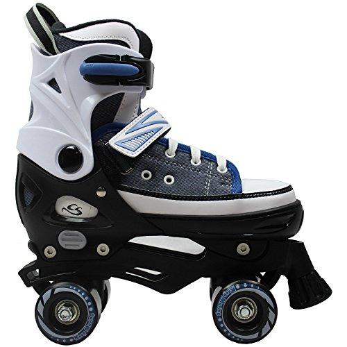 Cox Swain Kinder Rollschuhe -Joel- Größenverstellbar: XS(29-32), S(33-36), M(37-40), L(40-43)- ABEC5, Blau, L(40-43)