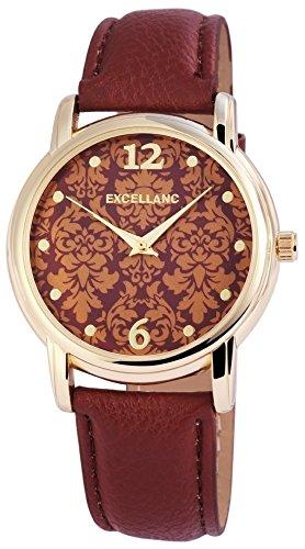 Excellanc 195007000194 - Reloj de Pulsera Mujer, imitación de Cuero, Color Marrón