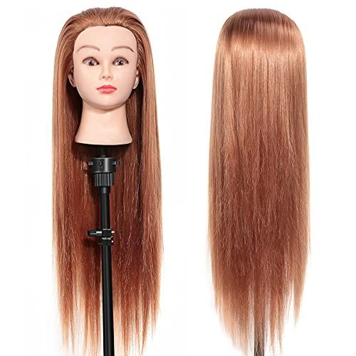 Übungskopf Trainingskopf für Friseure, DIY Haar Zubehör Styling Frisierkopf, Puppenkopf kann gefärbt oder gebleicht werden Geeignet für Friseure Kosmetiker Friseur und Kosmetikstudenten
