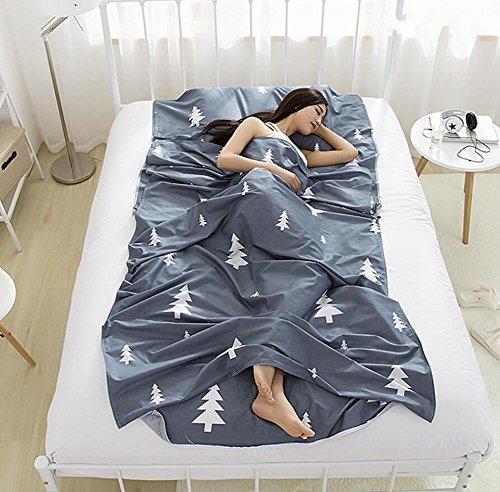 Double/seule personne Portable enveloppe type de coton Sac de couchage Hôtel extérieur quatre saisons Adulte pliante Sac de couchage 4 tailles, gris, 180*230 cm