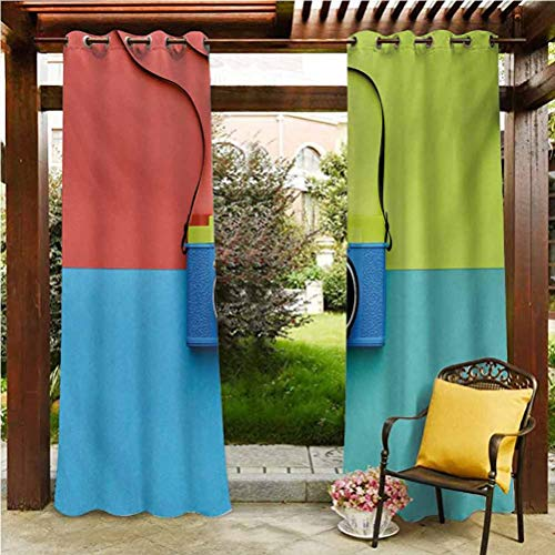 ScottDecor Pastel Outdoor Polyester Drapes for Door Porch Sun Room Retro Style Fashion Film Camera on Colorful Backdrop Hipster Pop Urban Accessories Multicolor 96' W by 72' L(K245cm x G183cm)