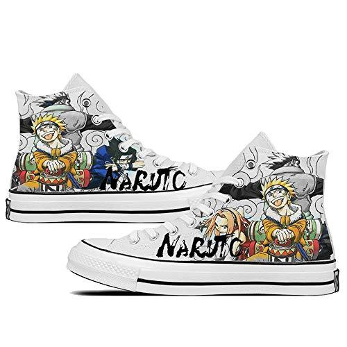 SevenLeo Hombre Zapatillas Lona Zapatos Casuales Zapatos Mujer Zapatos Adolescente Zapatillas Deporte Mujer Unisex Naruto Anime Shoes 40