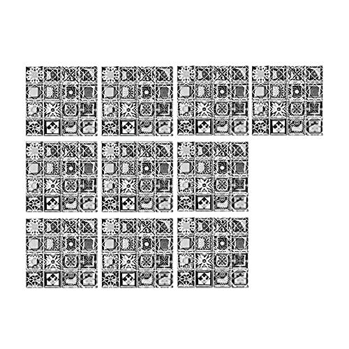 LGLG  Adhesivo para azulejos – Mosaico adhesivo de pared, adhesivo 3D, 10 unidades, para azulejos de mosaico, para cocina y baño, 10 x 10 cm
