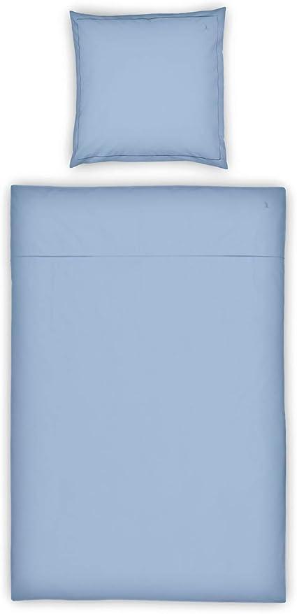 Möve Luxury Juego de Cama, Azul Claro, 135 x 200 cm - 80 x 80 cm, 2