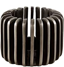 Candle Holder Metal Pillar Candle Holders,for Table Wedding Party Or Daily Home Candle Holder Decoration (Black) (Color : ...