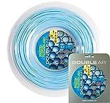 DOUBLE AR - Corda da Tennis Sylikon Sfere, Monofilamento Co-Poliestere 1.25mm, Azzurra. Matassa...
