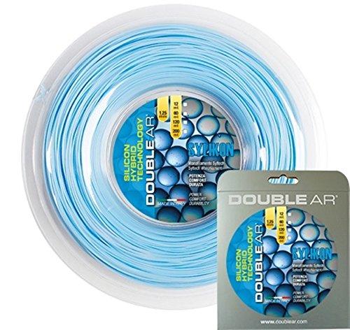 Double Ar-Cordaje de tenis Sylikon, monofilamento de copoliéster, 1,25mm, azul claro, 12mt