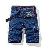 ShZyywrl Pantalones Cortos De Hombre Hombres Pantalones Cortos Militares De Carga Pantalones Cortos De Camuflaje del Ejército Hombres Algodón Trabajo Suelto Ca