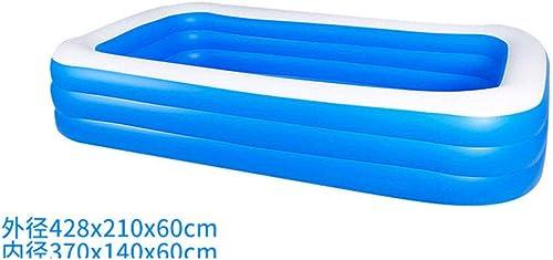 HErougeIGH Piscine Gonflable SurdiPour des hommesionné Parc Aquatique Bébé Maison Bébé Enfant Gonflable épais Adulte Famille Piscine pour Enfants 428 M 3 Couches Inflatable Pool