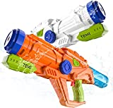 TEMI Water Gun for Kids Super Squirt Gun Water Soaker Blaster - 2 Pack 21'' Big Water Cannons No Leak for Toddlers & Adults Water Toy Pistol Long Range Summer Swimming Pool Beach Outdoor Party