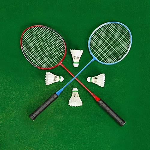 Raqueta de Badminton Set de raquetas de bádminton Estudiantes de deportes interiores y exteriores y niños Practican la raqueta de bádminton con la bolsa de cubierta para Juegos de Bádminton