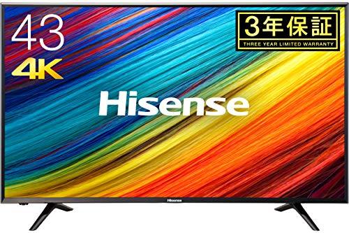 ハイセンス 43V型 4K対応 液晶 テレビ  HJ43N3000 外付けHDD 録画 裏番組録画 メーカー3年保証