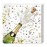 Procos Conf. 20 Tovaglioli Capodanno Bottiglia, Multicolor, Confezione