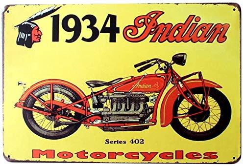Topdo 1pcs Poster Métallique Affiche Peinture Art Décoratif Vintage pour Bar Café Pub Vintage Poster Mural rétro Plaque en métal Bar Pub 20cmX30cm Moto (Moto 1)