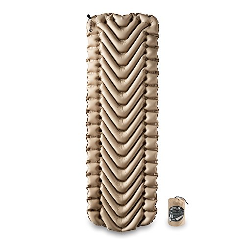 Klymit 06IVKd01C Insulated Static V Sleeping Pad, RECON, Coyote-Sand