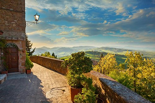Landscape in Tuscany View from The Walls of Pienza Italy Photo Art Print Poster 36x24 inch