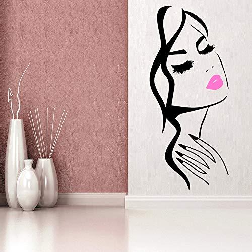 stickers muraux zen 3d Salon de beauté manucure ongles salon main fille visage autocollant décor à la maison coiffeur coiffeur autocollant