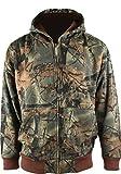 TrailCrest Boys Camo Full Zip Hooded Sweatshirt Hunting Jacket, Large