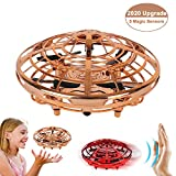 TMANGO UFO Hand-Controlled Drones Toys, Updated 5 Infrared Sensors & 2-Speed Interactive Flying Toys with 360°Rotating & LED Lights Helicopter for Kids, Boys & Girls