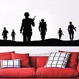 ganlanshu Etiqueta engomada del Soldado del ejército Arte de la Pared Mural extraíble Decoración del hogar Etiqueta de la Pared Decoración Arte de Vinilo Soldado 84cmx34cm