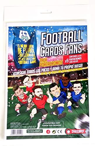 DLAZARO Football Cards Fans, Porta cromos para Cartas coleccionables del Juego, panini o adrenalyn, Juego de fútbol con acción, desafia a Tus Amigos y CREA Tus Propios Partidos
