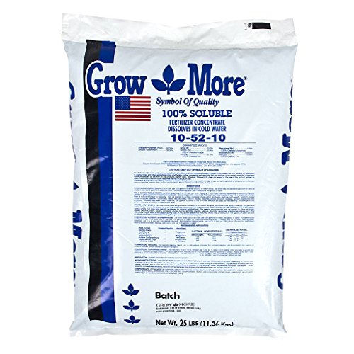 Grow More 5556 Water Soluble Fertilizer 10-52-10, 25-Pound