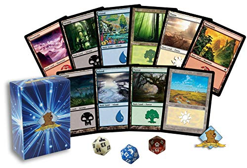 100 Magic The Gathering Basic Lands Lot! Mountain - Plains - Swamp - Island - Forest! 1 Spindown! Includes Golden Deck Box!