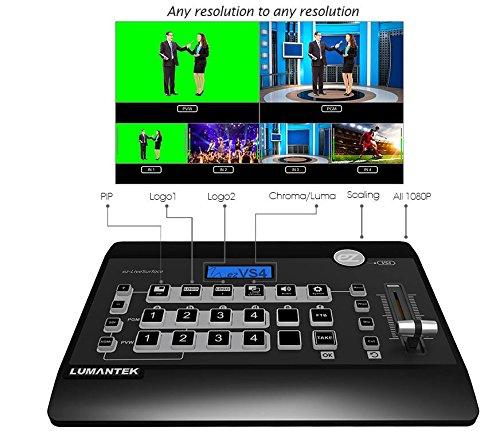 lumantek 4ch Full HD Video Switcher EZ-Pro VS4/escaladores de interior para SD, HD, Full HD