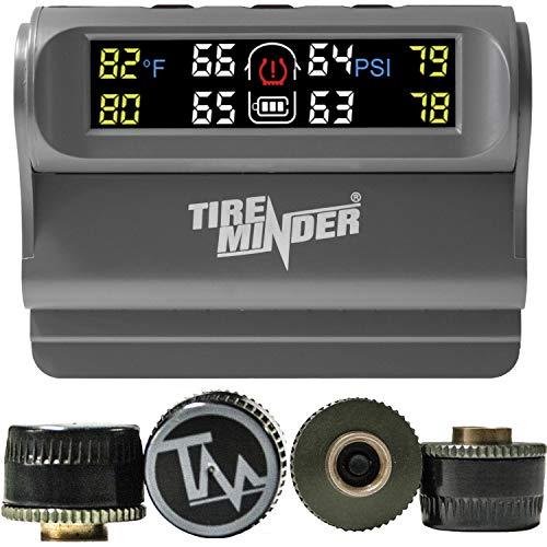 Minder Research - TPMS-TRL-4 TireMinder Solar Powered Trailer TPMS, 4 Tire Kit