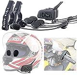 Callstel Helmsprechanlage: Motorrad-BT-Intercom-Headset, Fernbedienung, 1 km Reichweite, 2er-Set (Motorrad Funk)
