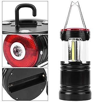 Crisist Lanternes, Lampe de Travail extérieure 2-en-1 pour intérieur/extérieur(Le Noir)