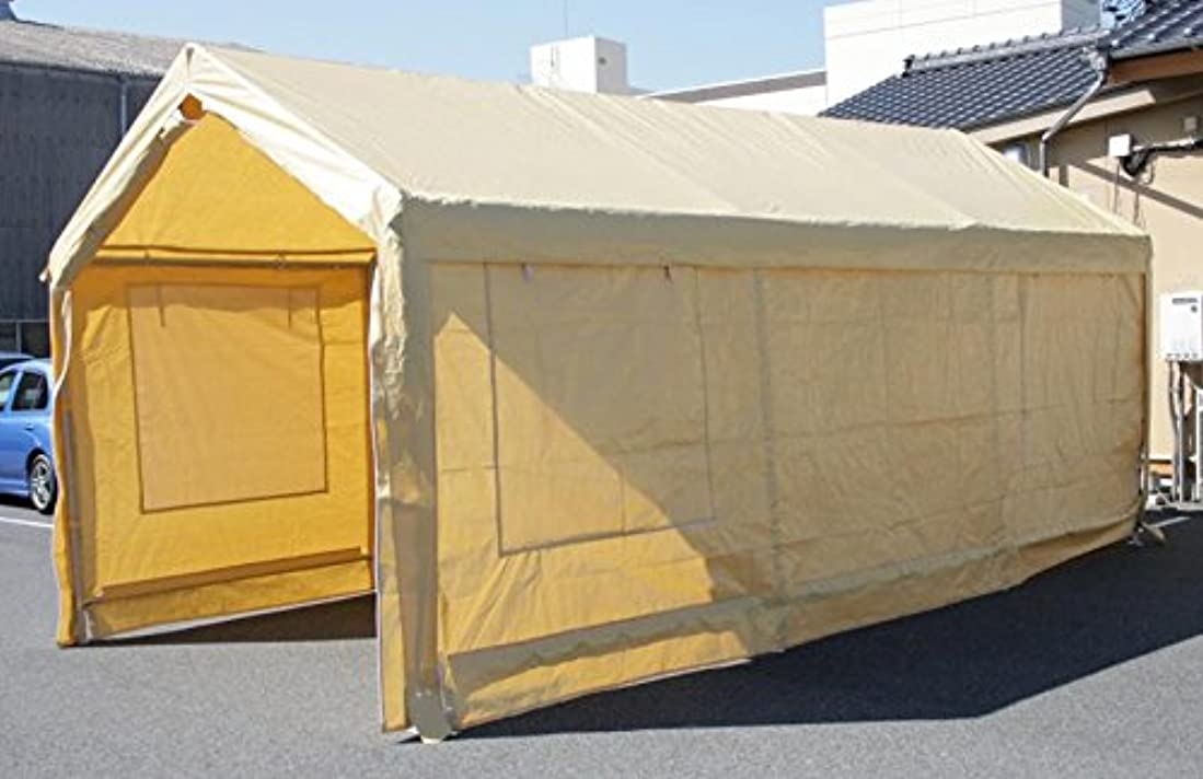 待つピュー火星ドア付き タープ テント ( 車庫 テント カーポート )3×6m C1020106