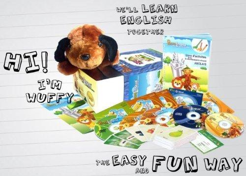Kit audiovisuelle PetraLingua englisch für Kinder lernset dvd-cd-bücher