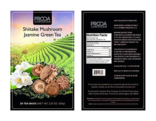 Shiitake Mushroom Jasmine Green Tea