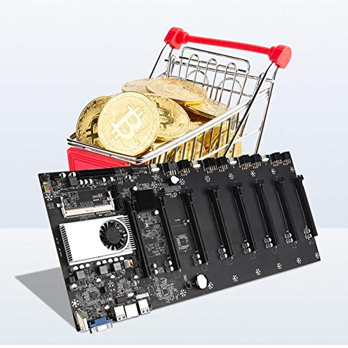 BTC-37 Mining Machine Motherboard CPU Group,Mining Machine Accessories,VGA Interface Low Power Consume,8 Video Card Slots DDR3 Memory Integrated,Cable, Adapter Board, Sound Card, Riser Card