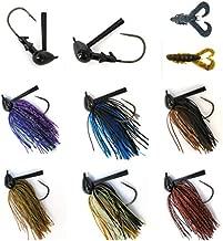 #2700 Best Bass Jigs for Bass Fishing Pack Bulk Set Kit Flipping Jigs (Swim Jigs 6 of Pack (5/0 3/4oz))
