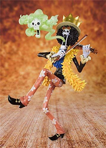 JINGMAI Anime One Piece Sombrero de Paja Pirate Group Brook Revive-Revive Fruit Figura en Caja Decoración Figura de acción 23cm