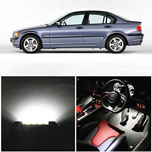 WLJH 17 x Blanc Pur Erreur CANBUS de Voiture Carte de l'éclairage de Miroir de l'emballage Intérieur Kits de LED pour E46 1999–2006 Sedan Waggon Coupé