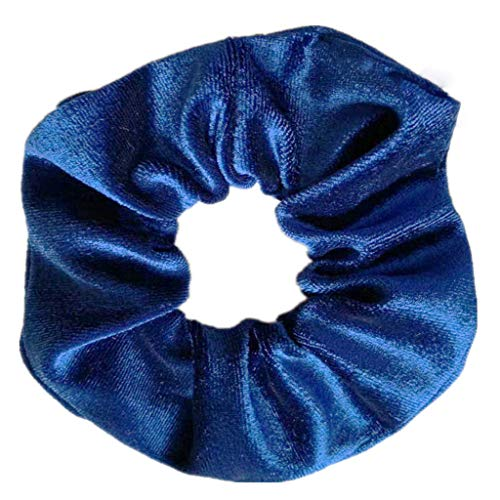 XIAN 15 Colors Women Wide Ruched Stretch Weave Large Intestine Circle Hair Rope Glitter Velvet Solid Color Ponytail Holder Vintage Seamless Scrunchies