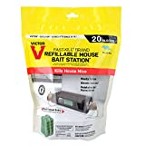 Victor M923 Fast-Kill Brand Ready-to-Use Refillable Mouse Station – 20 Blocks