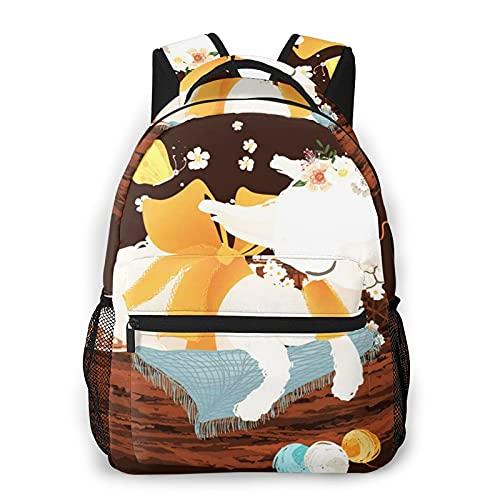 USGYY Zaino per Bambini Ragazzi Ragazze Baby Lama Alpaca Sognando, Camping Outdoor Casual Zaino Scuola Zaino Università Zaini Viaggio Adatto per Laptop