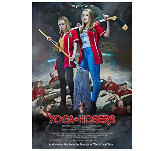 DNJKSA Yoga Hosers Horror película clásica Impresa en Lienzo Póster de Arte HDpara decoración del hogar de la Sala de Estar -20x30 en sin Marco