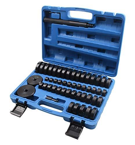 SLPRO 50 TLG. Radlager Montagescheiben Radialdichtringen Buchsen Schalen Gummis Abzieher Druckstück Press Werkzeug Treibsatz 18–65 mm