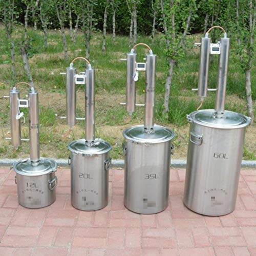 W7ikhny DIY Barril 12/20/35/60 litros Alambique Destilación